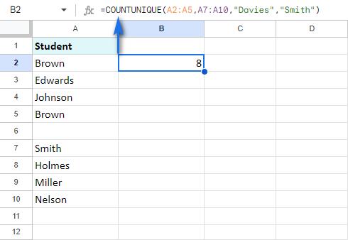 Scan multiple ranges/values for uniques.