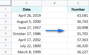 Convert Date format to Number format.