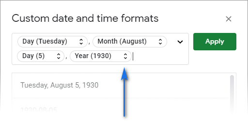 Remove the existing custom date format.