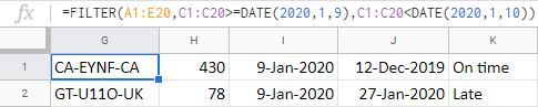 Use multiple conditions to find records for a particular date.