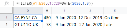 Specify the date to get ahold of required rows.
