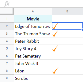 How to make a checkmark in Google Sheets from pictures.