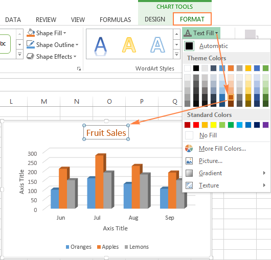Excel charts add title customize chart axis legend and data labels find advanced formatting options on the format tab ccuart Image collections