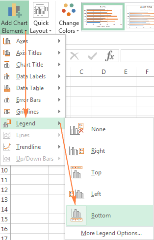 Excel charts add title customize chart axis legend and data labels moving the chart legend ccuart Image collections
