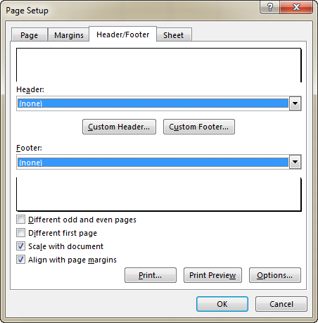 Removing headers and footers from multiple worksheets at a time