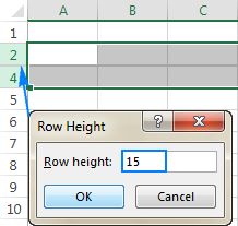 If the row's height is small, but not zero, change it to unhide the row.