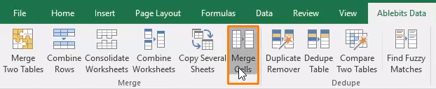 Use Merge Cells to combine the rows