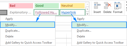 Select whether to change the appearance of followed or non-followed hyperlinks.