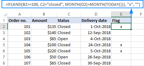 Multiple IF AND statements in Excel