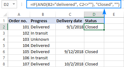 IF AND statement in Excel