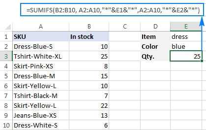 Sum cells with multiple criteria