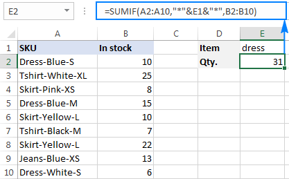 If a cell contains specific text, sum numbers in another column