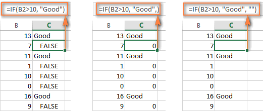 How to use if function in excel: examples for text, numbers, dates.