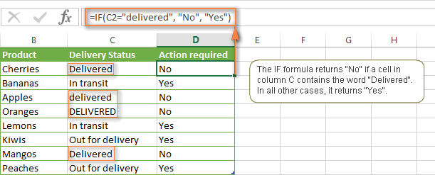 Case-insensitive IF formula for text values