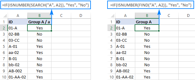 Excel IF formula for partial matches
