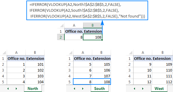 Nested IFERROR functions to do sequential Vlookups