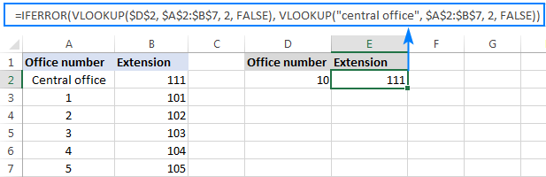 If the first vlookup does not find anything, the second vlookup pulls a common value.