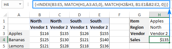 INDEX MATCH with multiple criteria in rows and columns
