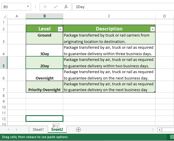 Right-click and hold down the button to drag the cell into the other worksheet