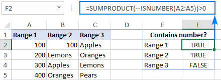 Checking if a range contains any number