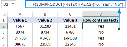 An advanced formula to check if a range contains text values