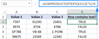 Checking if a range contains any text values