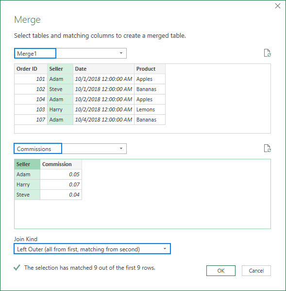 Join two or more tables in Excel with Power Query