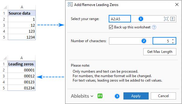 Adding leading zeros