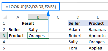 Excel LOOKUP function to search in one-column range