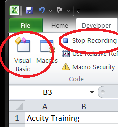 Stop recording button