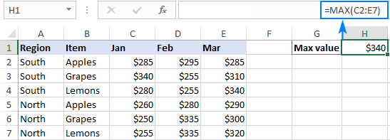 Finding the max value in a group