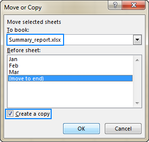 Copy sheet tabs from one Excel file to another.