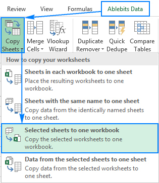 Merge multiple workbooks into one.