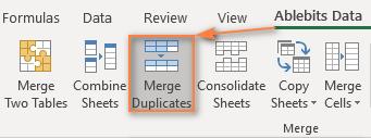 Run the Merge Duplicates tool.