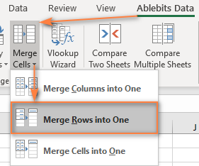 Merge multiple rows into one.
