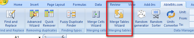 Merge Tables Wizard helps quickly combine data from two tables