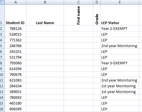 Pull data from smaller tables and use values that are convenient to match
