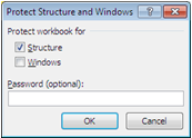 Protect Structure and Windows dialog box