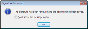 See this dialog box after editing a file
