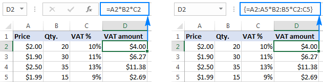 Multiplying several columns in Excel