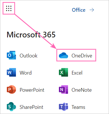 How to open OneDrive