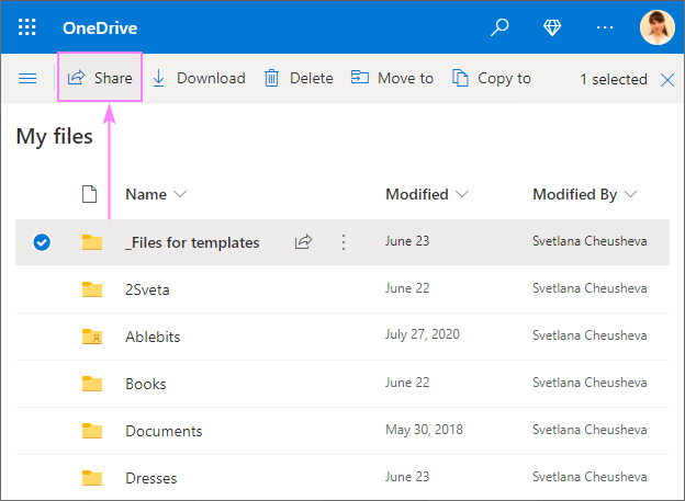 Sharing a OneDrive files securely