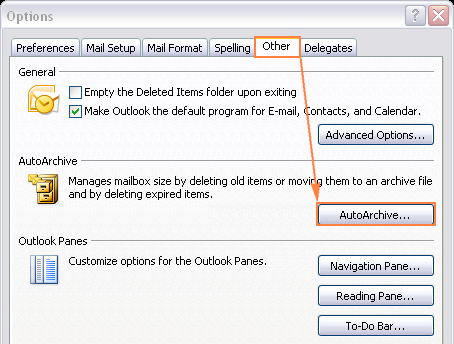 AutoArchive in Outlook 2007
