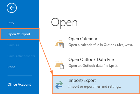Outlook 2010 Export Pst >> How to backup emails in Outlook 2016 and 2013 ...