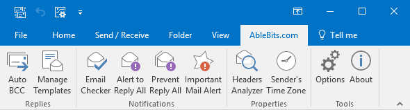 When you open Outlook you'll see add-ins' icons under the Ablebits.com tab