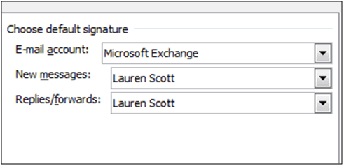Assign the signatures to the appropriate message type