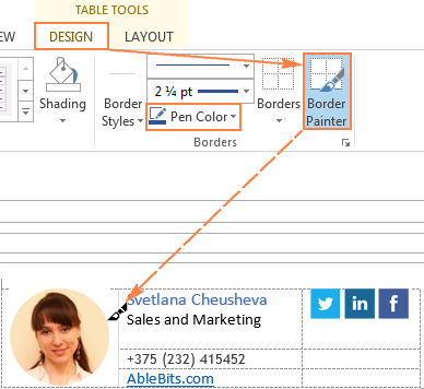 Paint a couple of vertical or horizontal borders using the Border Painter option and the Pen Color of your choosing.