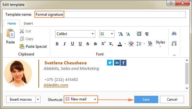 Outlook signature how to create add and change email for Edit outlook email template