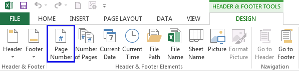 How to insert page numbers in Excel 2016 - 2010
