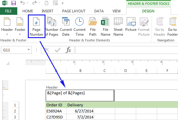 How to insert page numbers in Excel 2016 2010 – Center Worksheet Excel
